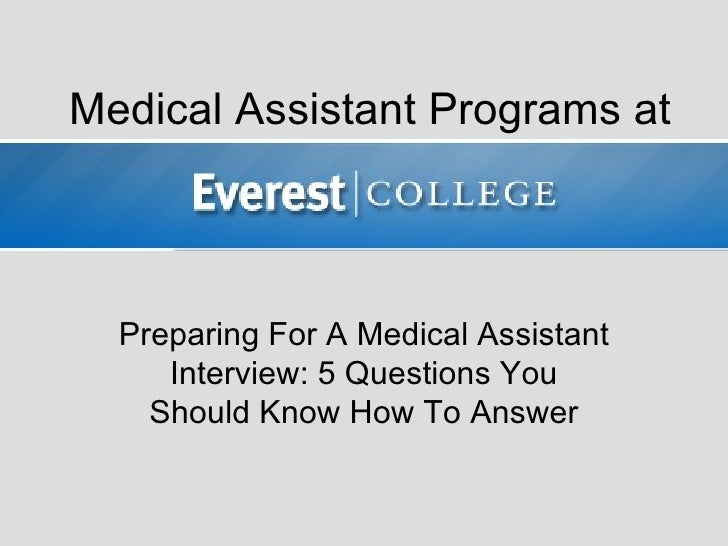 Preparing for a Medical Assistant Interview