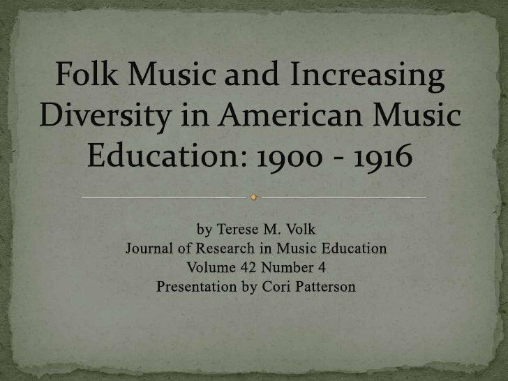Folk Music and Increasing Diversity in American Music