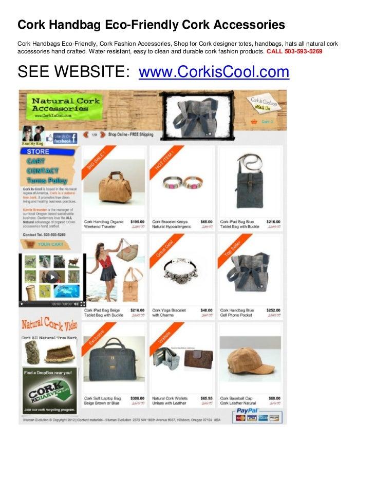 Cork Handbag Eco-Friendly Cork AccessoriesCork Handbags Eco-Friendly, Cork Fashion Accessories, Shop for Cork designer tot...