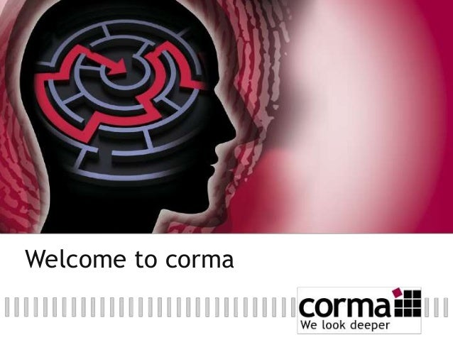 Welcome to corma