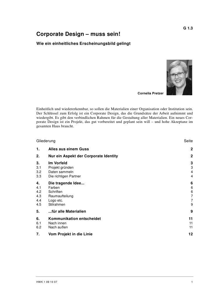 Cornelia Pretzer: Corporate Design - muss sein!