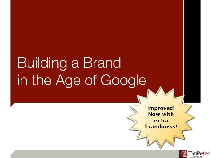 Building a Brand in the Age of Google