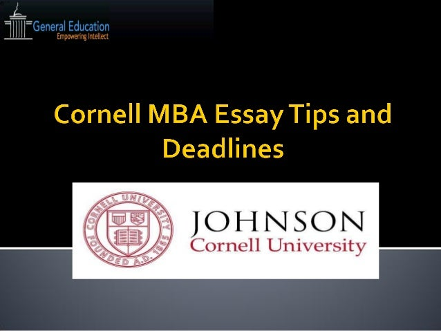 Cornell Mba Essay Table Of Contents