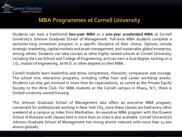 Cornell / Johnson MBA Essay Topic Analysis 2015-2016 - Clear Admit