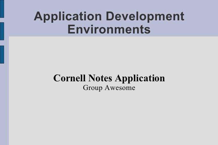 Cornell Presentation