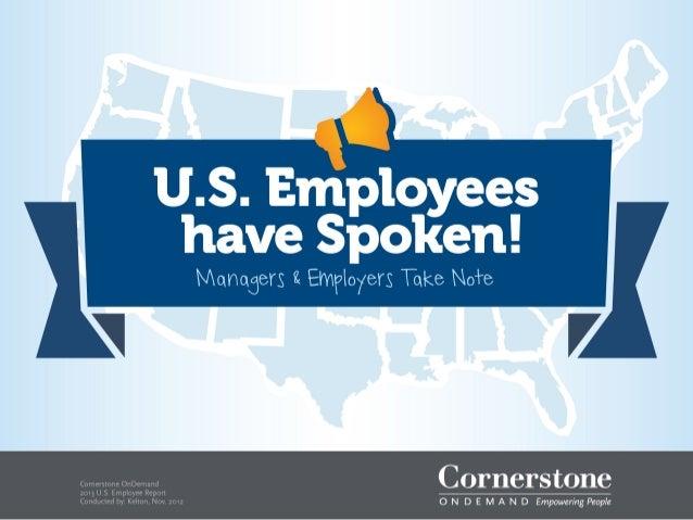 Cornerstone OnDemand 2013 U.S. Employee Report