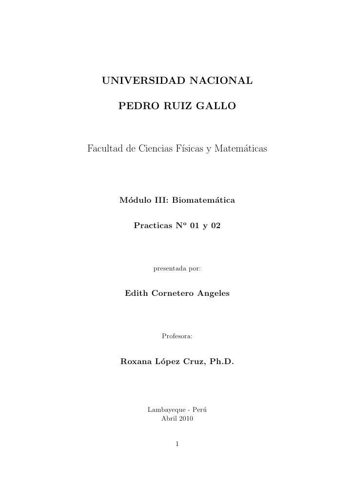 UNIVERSIDAD NACIONAL       PEDRO RUIZ GALLOFacultad de Ciencias F´                      ısicas y Matem´ticas              ...