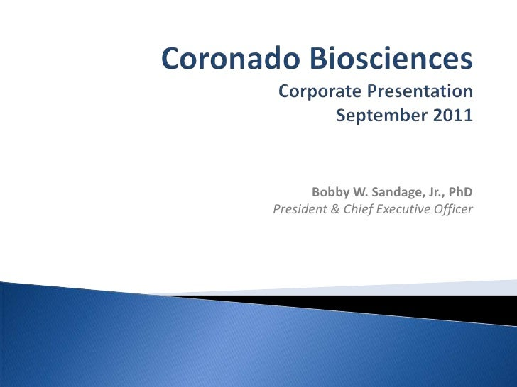 Coronado Corporate Presentation - September 2011 Rodman and Renshaw Conference