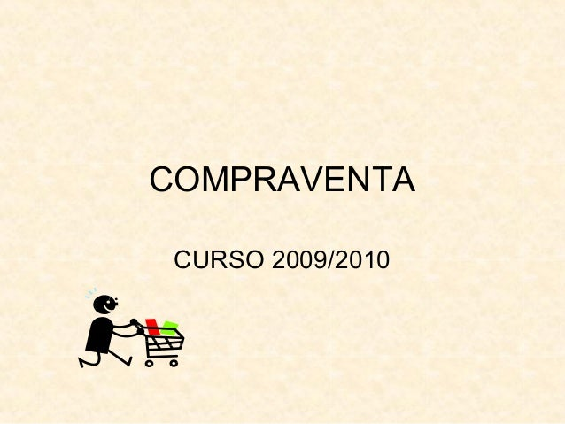 COMPRAVENTA CURSO 2009/2010