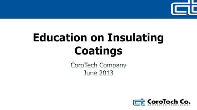 Coro tech   thermal insulating coating