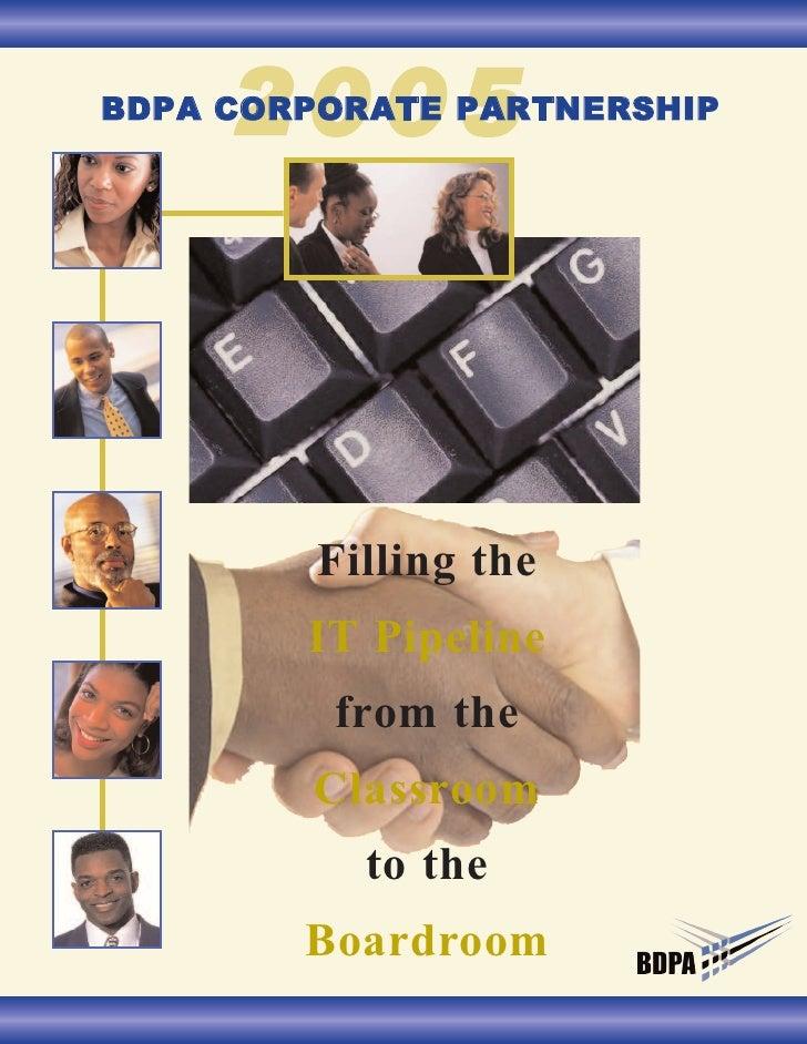 2005 BDPA Corporate Partnership Brochure