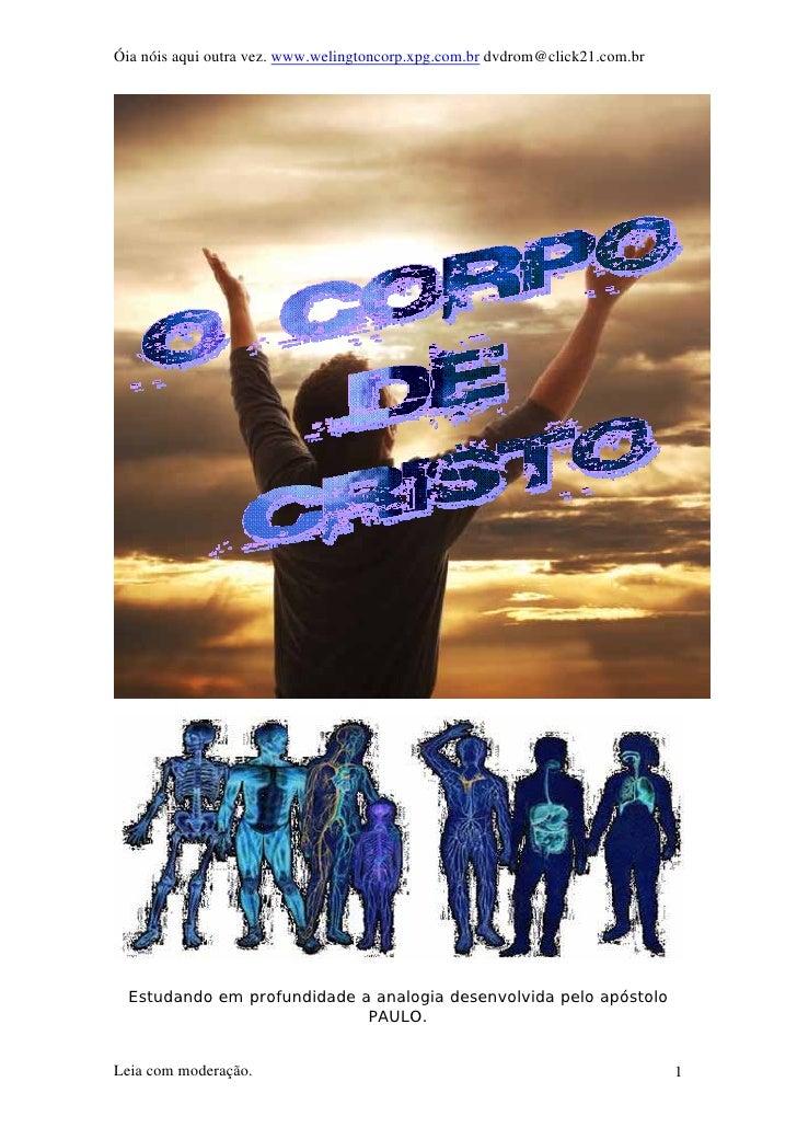 Óia nóis aqui outra vez. www.welingtoncorp.xpg.com.br dvdrom@click21.com.br  Estudando em profundidade a analogia desenvol...