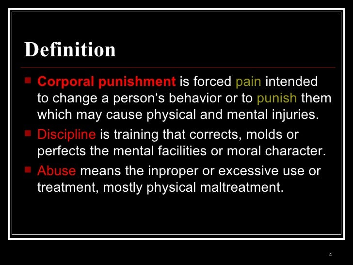 Disadvantages of corporal punishment-essays
