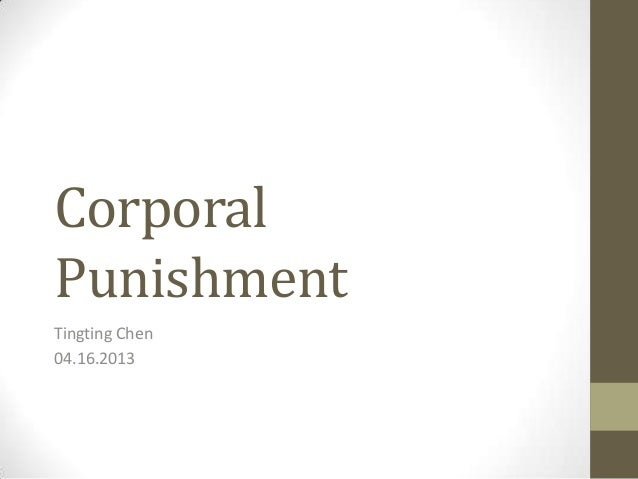 Argumentative Essay On Corporal Punishment