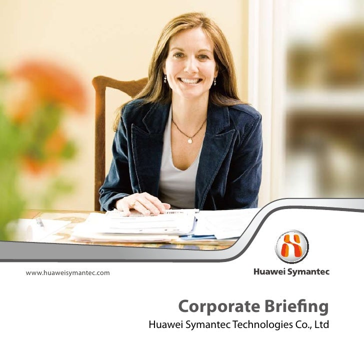 Corporate Briefing Of Huawei Symantec (2008)