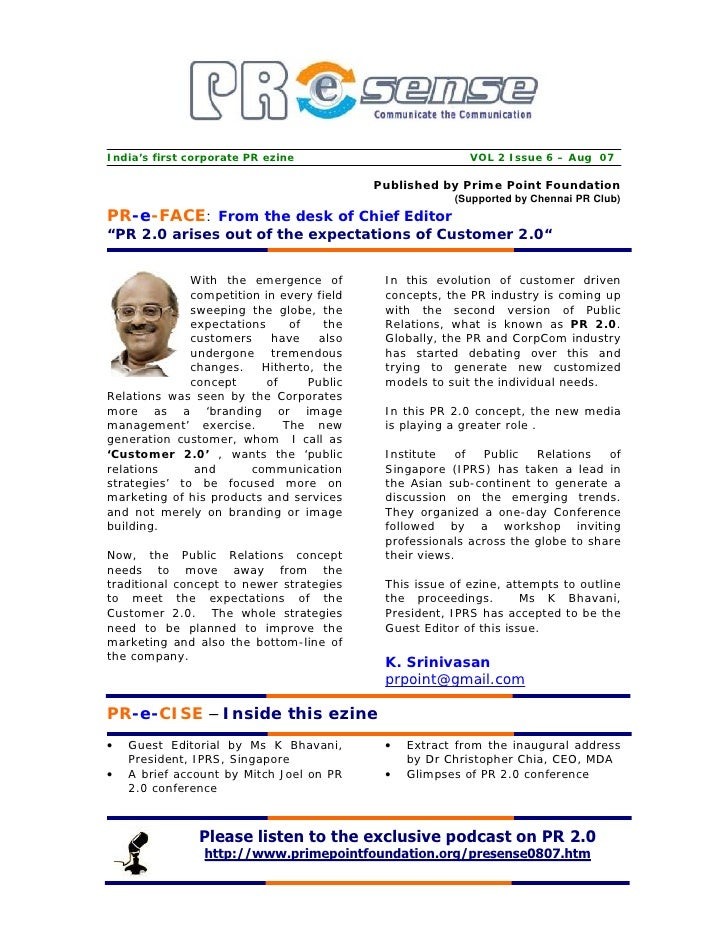 India's first corporate PR ezine                          VOL 2 Issue 6 – Aug 07                                          ...
