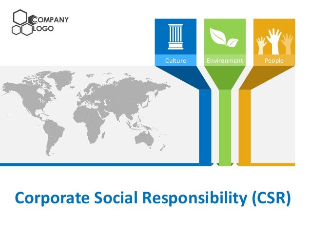 COMPANY LOGO  Culture  Environment  People  Corporate Social Responsibility (CSR)