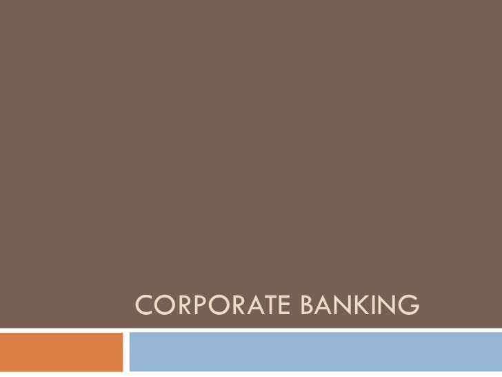 Corporate banking v2