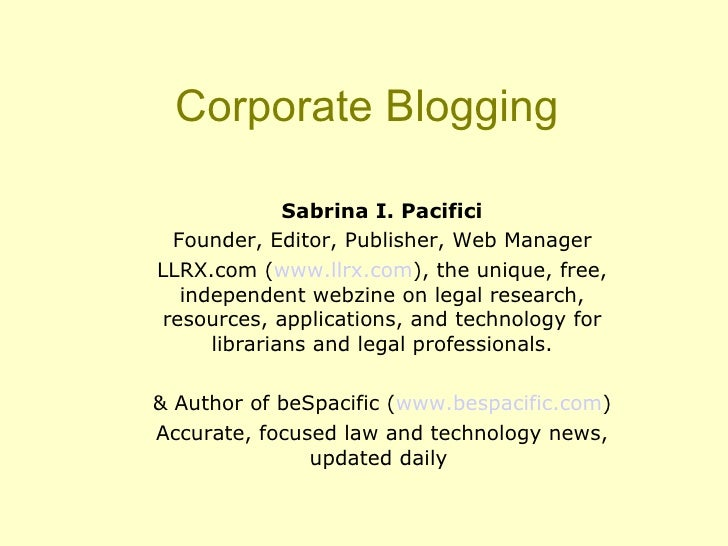 Corporateblogging