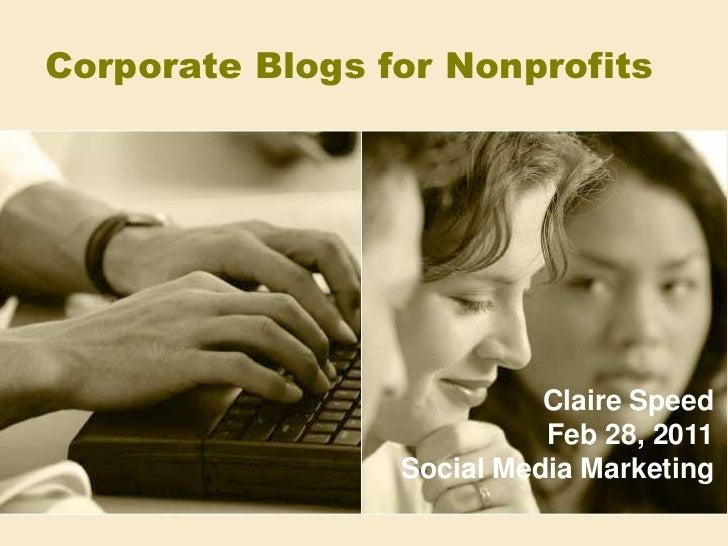 Corporate Blogs for Nonprofits