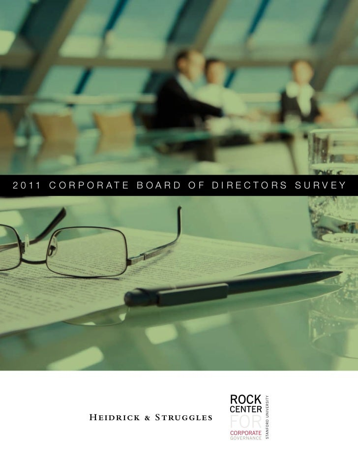 New Survey from Stanford's Rock Center and Heidrick & Struggles Examines: Do CEOs Make the Best Board Members?