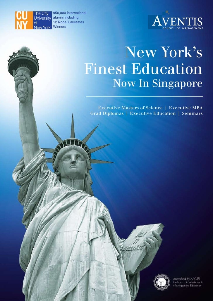 New York's Finest Education          Now In Singapore     Executive Masters of Science   Executive MBA Grad Diplomas   Exe...