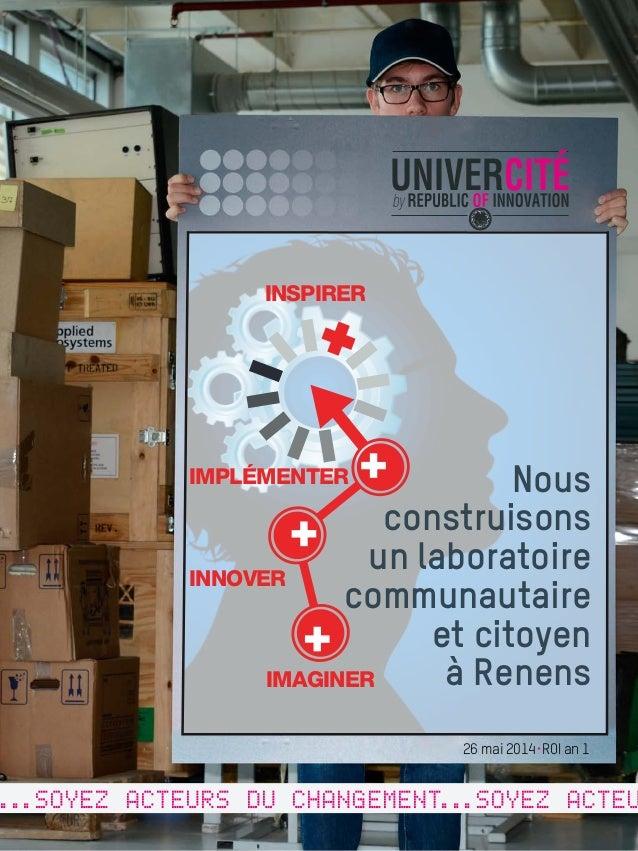 INSPIRER  IMPLÉMENTER  UNIVERCITÉ  REPUBLIC OF CITY bd  INNOUNIVERVATION  2014  INNOVER  IMAGINER  ...SOYEZ ACTEURS DU CHA...