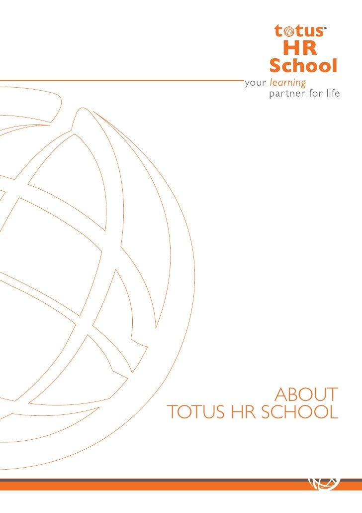 totus HR School Corporate brochure