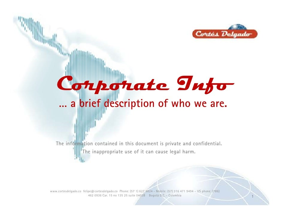 Corporate Catalog<br />A brief description of who we are…<br />