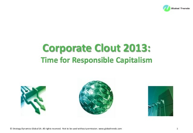 © Strategy Dynamics Global SA. All rights reserved. Not to be used without permission. www.globaltrends.com 1Corporate Clo...