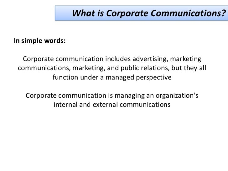 marketing corporate communication