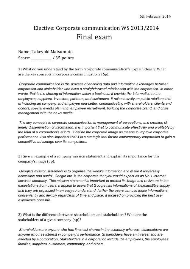 Corporate Communication 2013/2014
