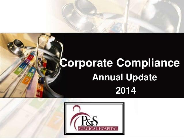Corporate Compliance Annual Update 2014