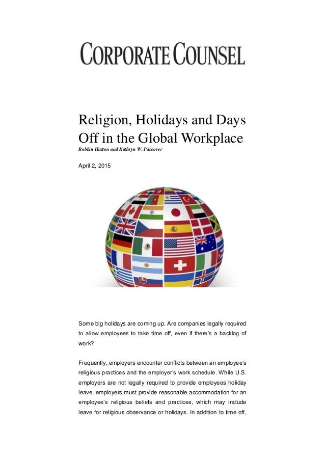 religion in the workplace thesis