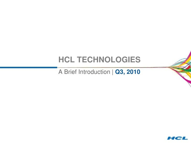 HCL: Corporate A Quick Snapshot