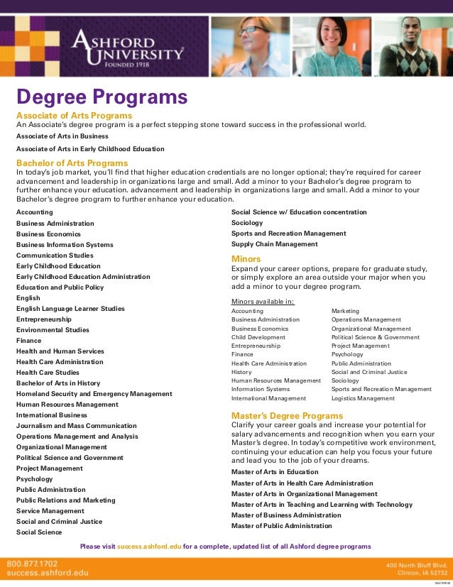 Associate of Arts Programs An Associate's degree program is a perfect stepping stone toward success in the professional wo...