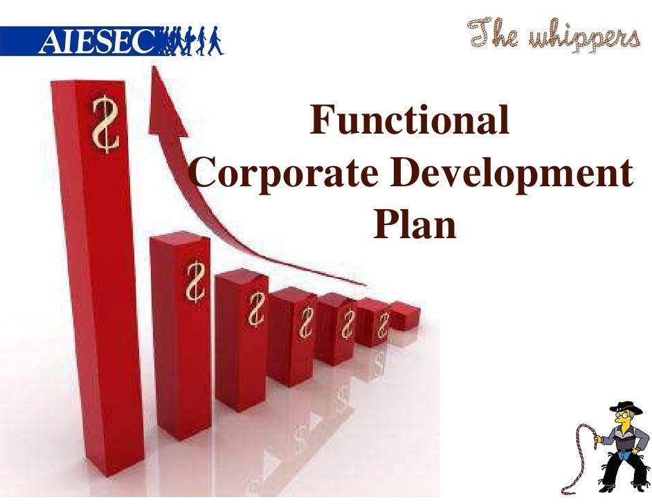 FunctionalCorporate Development         Plan