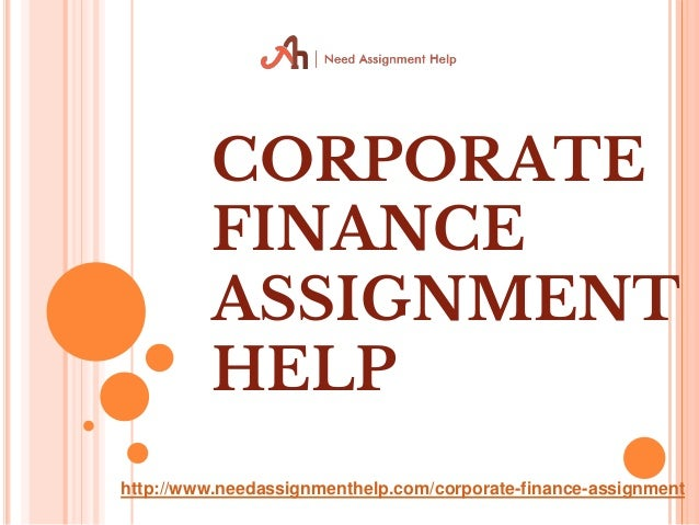 Help with Corporate Finance Homework