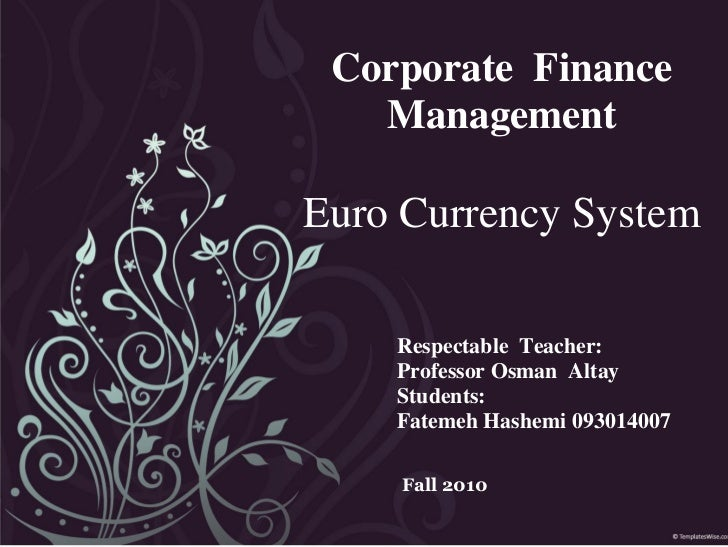 Euro Currency System