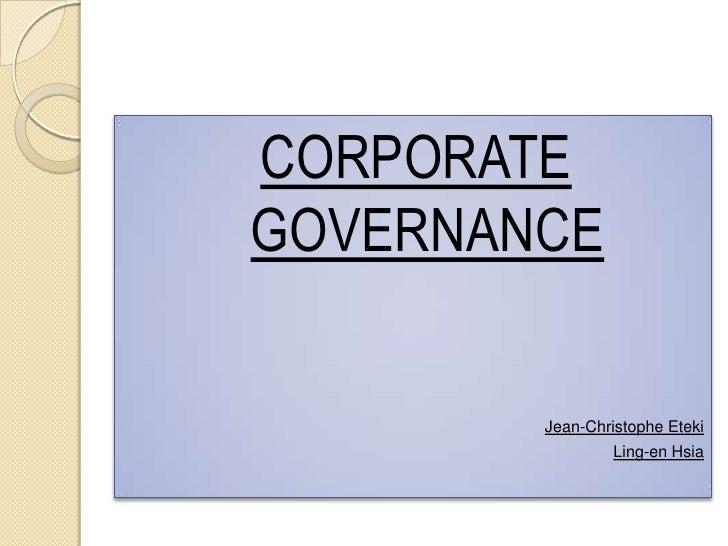 Corporate governance in France