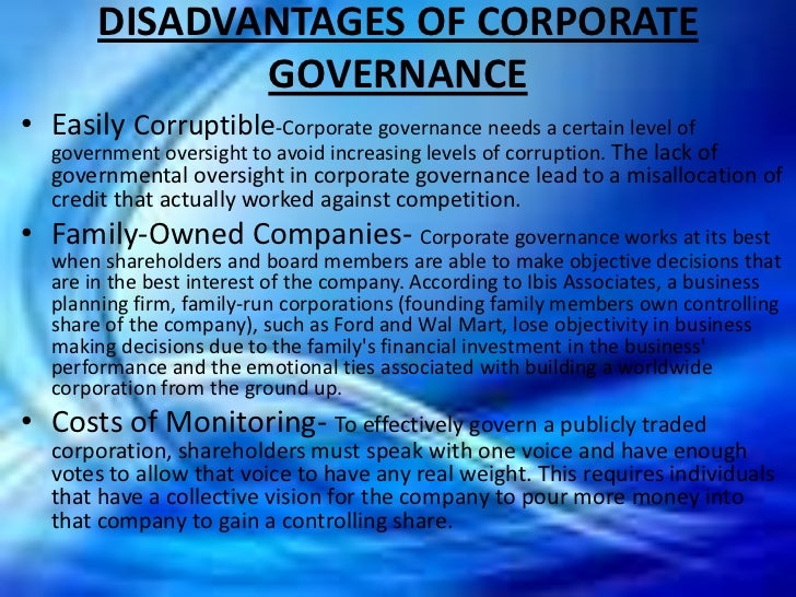 corporate governance essay uk