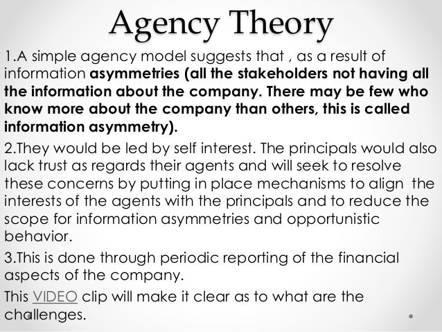 agency theory and stakeholder theory commerce essay – a stakeholder theory of the modern corporation • note that these are the same claims we find in friedman's essay • doctrine of fair contracts.
