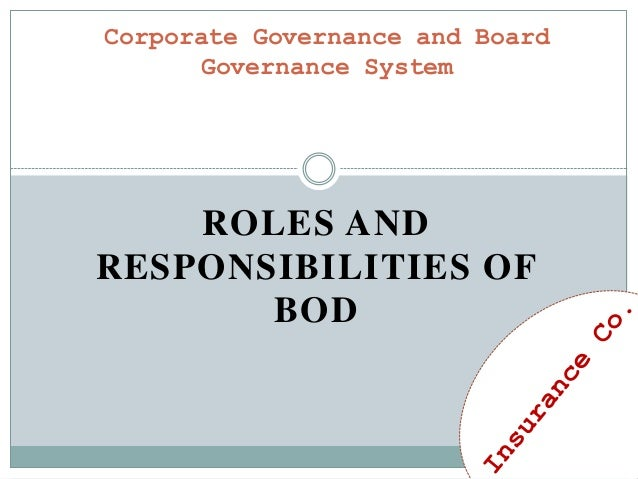 Corporate governance and board governance system
