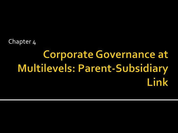Corporate governance at multilevels