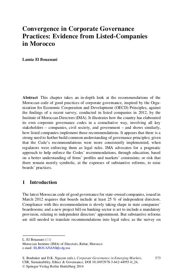 ithe impact of corporate governance and The purpose of this paper is to investigate the uae national banks' practices of corporate governance (cg), and the perception of the uae national banks of the effect of cg on performance and financial distress this study attempts to answer the question: are uae banks aware of the importance of disclosure transparency,.