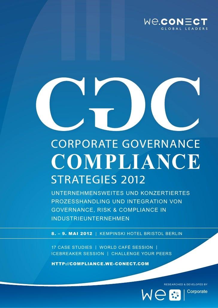 Unternehmensweites und konzertiertesProzesshandling und Integr ation vonGovernance, Risk & Compliance inIndustrieunternehm...