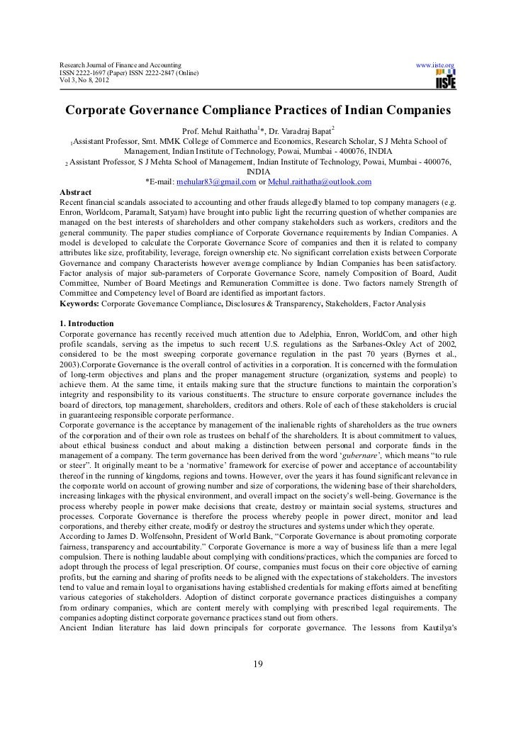 Research Journal of Finance and Accounting                                                                  www.iiste.orgI...