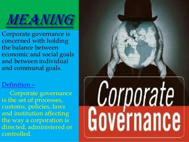 Definition of corporate governance in healthcare
