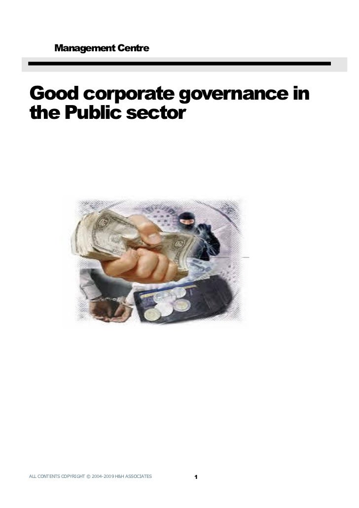 Corporate governance in the public sector (7)