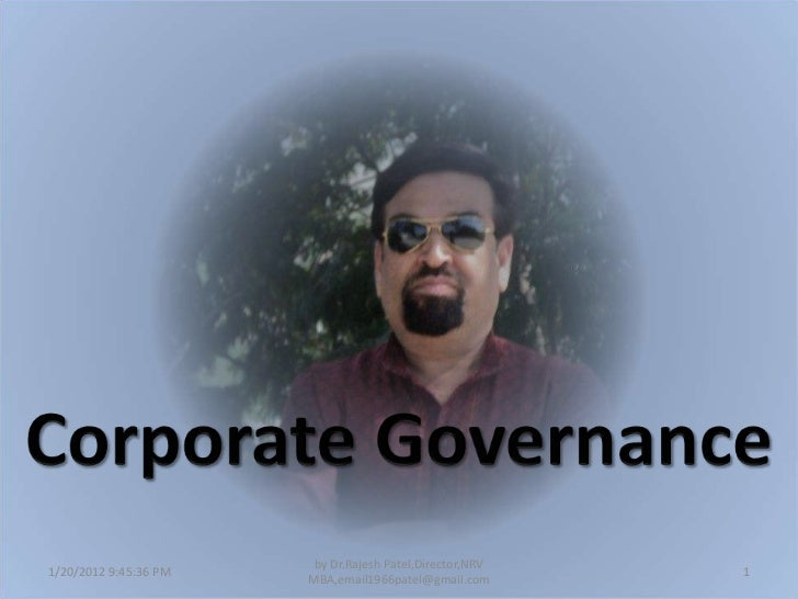 Corporate governence an introduction